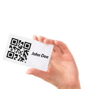 ID card with QR code